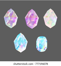 crystals  illustration vector