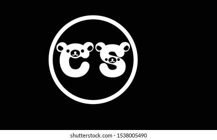 CS abstract vector logo monogram template