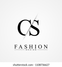 CS C S cutting and linked letter logo icon with paper cut in the middle. Creative monogram logo design. Fashion icon design template.