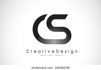CS C S Letter Logo Design in Black Colors. Creative Modern Letters Vector Icon Logo Illustration.