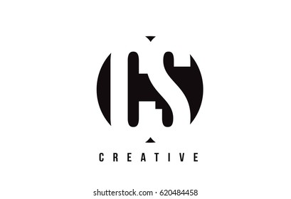 CS C S White Letter Logo Design with Circle Background Vector Illustration Template.