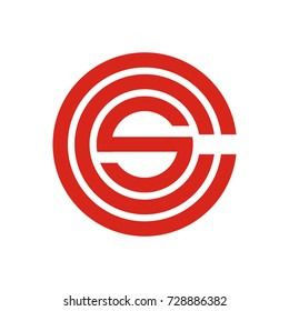 CS CSC logo initial letter template design vector