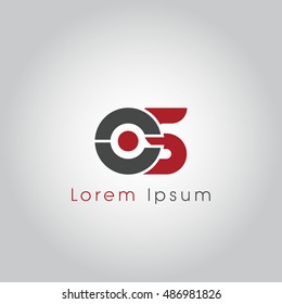cs initial letter linked lowercase logo. c and s vector template design.