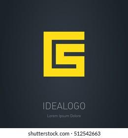 CS initial logo. C and S initial monogram logotype. Vector design element or icon.