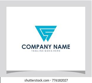 CS initial logo design