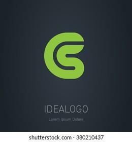 CS initial logo. CS initial monogram logotype. Vector design element or icon.