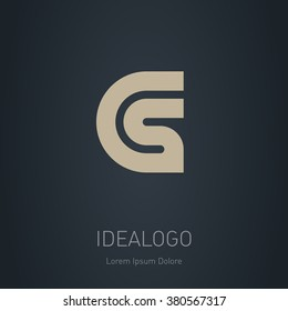 CS initial logo. CS initial monogram logotype. Vector design element or icon.