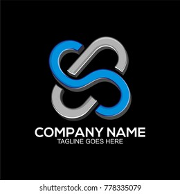 CS initial logo template for business company