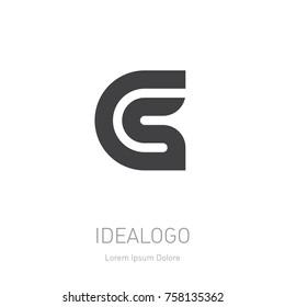CS initial logo. Vector design element or icon. CS initial monogram logotype