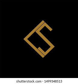 CS Letter monogram with abstract concept style design