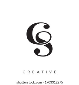 cs logo design vector icon symbol