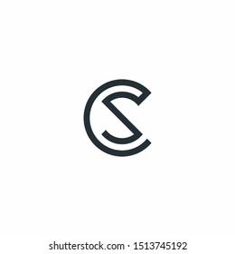 CS Logo monogram modern design template
