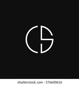 CS and SC creative initial based letter icon logo