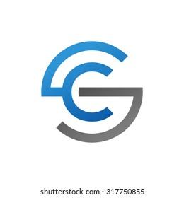 CS SC initial company circle S logo blue