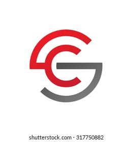 CS SC initial company circle S logo red