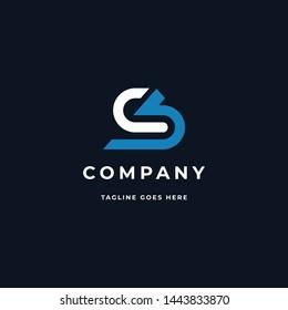 CS or SC Letter Initials Logo Template