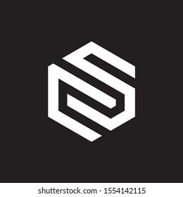 CS OR SC MONOGRAM STYLE UNIQUE VECTOR WHITE LOGO DESIGN