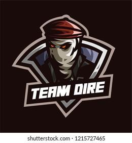 CSGO team dire mascot logo template