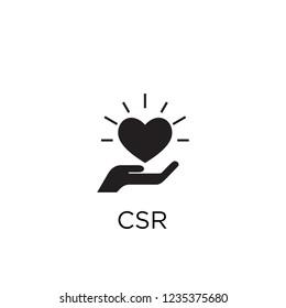 csr icon vector logo template