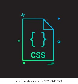 css file file extension file format icon vector design
