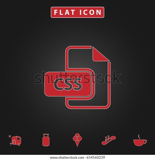 Css Simple Vector Button Flat Icon Stock Vector (Royalty