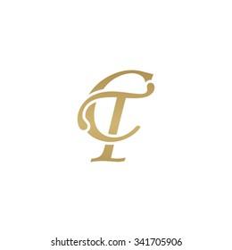 CT initial monogram logo