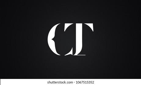 CT Letter Logo Design Template Vector