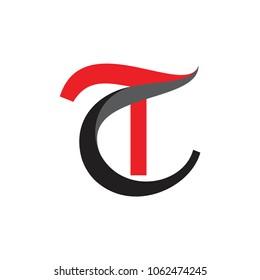 CT letter logo, TC letter logo