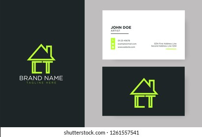 CT Letter Real Estate Logo Design - Real estate logo