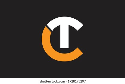 CT or TC Letter Initial Logo Design, Vector Template