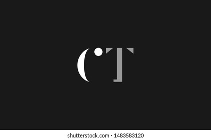CT, TC Letter Logo Design with Creative Modern Trendy Typography