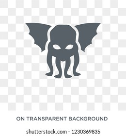 Cthulhu icon. Trendy flat vector Cthulhu icon on transparent background from Fairy Tale collection.