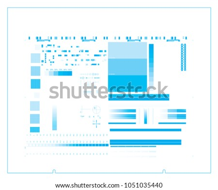 Ctp Plate Cyan Separation Chart Cmyk Stock Vector Royalty Free
