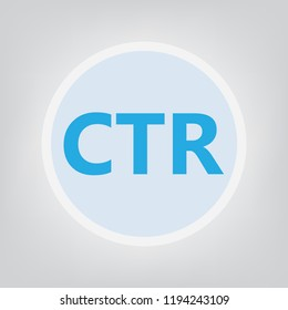 CTR (Click-through rate) acronym- vector illustration