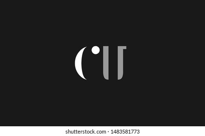 CU, UC Letter Logo Design with Creative Modern Trendy Typography
