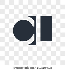 CU UC vector icon isolated on transparent background, CU UC logo concept