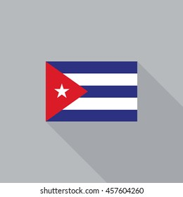 Cuba flag flat design vector illustration