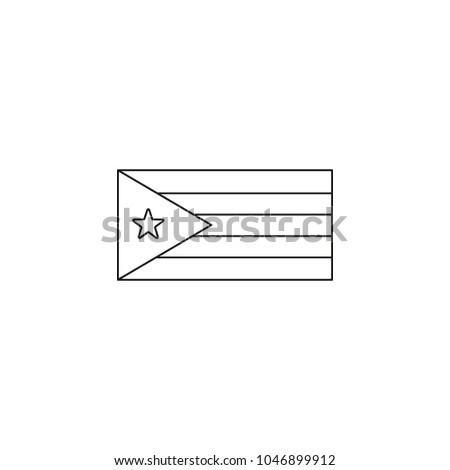 Cuba Flag Icon Outline Style Stock Vector Royalty Free 1046899912