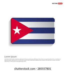 Cuba flag isolated on white background - vector illustration