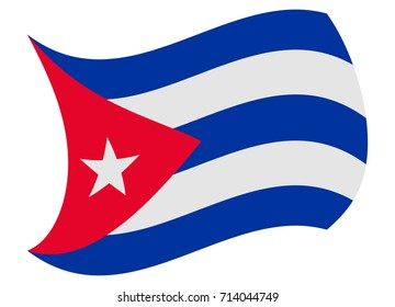 cuba flag moved by the wind