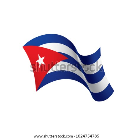 Cuba Flag Vector Illustration On White Vector de stock (libre de ...