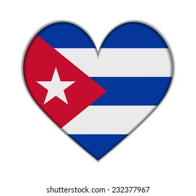 Cuba heart flag vector illustration