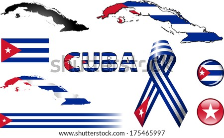 Poster: Cuba Icons Set of