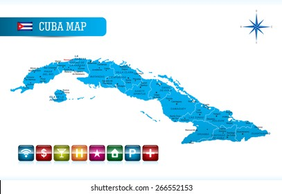 Cuba Map Images, Stock Photos & Vectors | Shutterstock