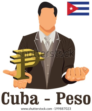 Cuba National Currency Cuban Peso Symbol Stock Vector Royalty Free