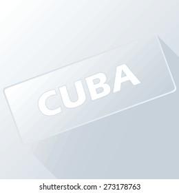 Cuba unique button for any design. Vector illustration