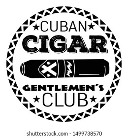 Cuban cigar club logo. Simple illustration of cuban cigar club vector logo for web design isolated on white background