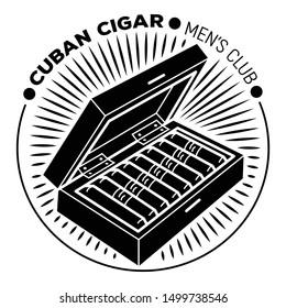 Cuban cigar men club logo. Simple illustration of cuban cigar men club vector logo for web design isolated on white background