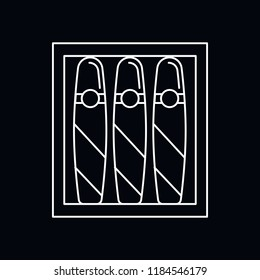 Cuban cigar white icon. Outline illustration of Cuban cigar vector icon for web and advertising isolated on black background. Element of culture and traditions