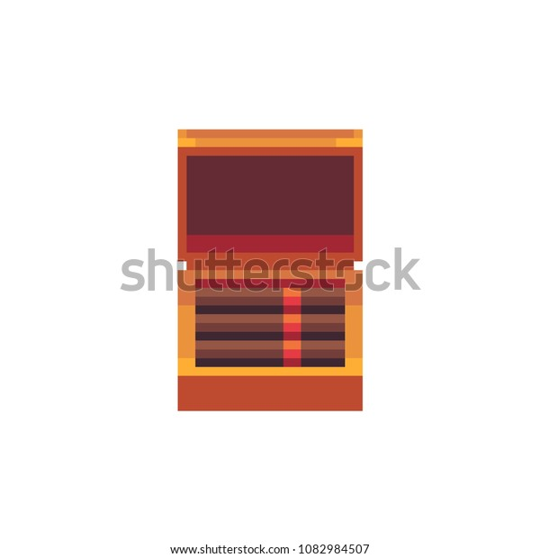 Cuban Cigars Open Wooden Box Pixel Stock Vector Royalty Free